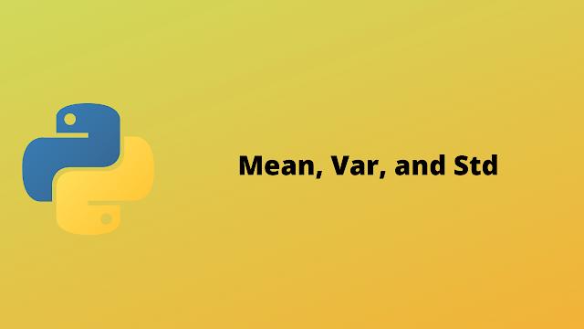 HackerRank Mean, Var, and Std solution in python