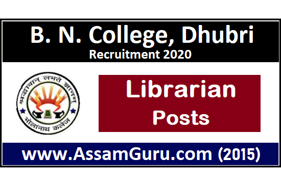 B.N. College Dhubri Job 2020
