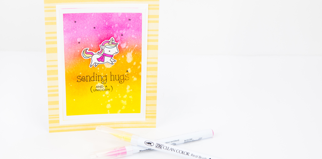 Be a Unicorn Lawn Fawn Card by @createoften