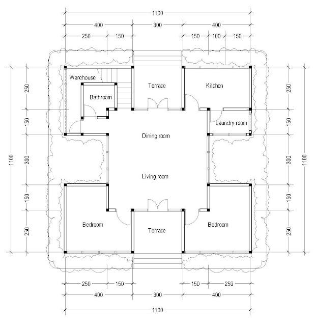1st Floor Plan for Plan c-03