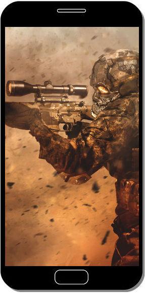 Soldat Sniper Camouflage - Fond d'Écran en QHD pour Mobile