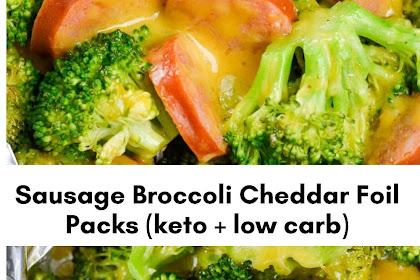 Sausage Broccoli Cheddar Foil Pack (keto + low carb)