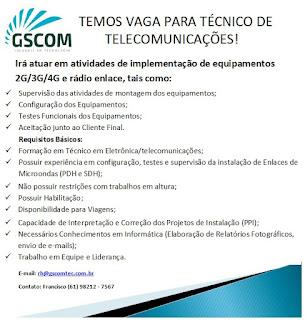 Técnico de Telecomunicações