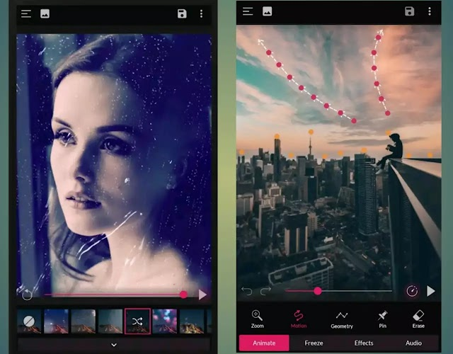 Best 3 android apps for making cinemagraphs, photo to animation