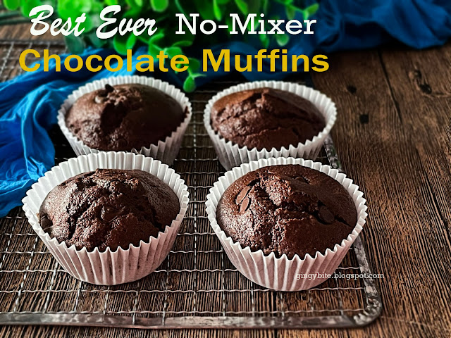 Best Ever No-Mixer Chocolate Muffins