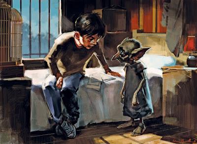 Εικονογράφηση για τον Harry Potter και το ξωτικό, τον Dobby