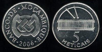 Mozambique 5 Meticais (2006) Xylophone