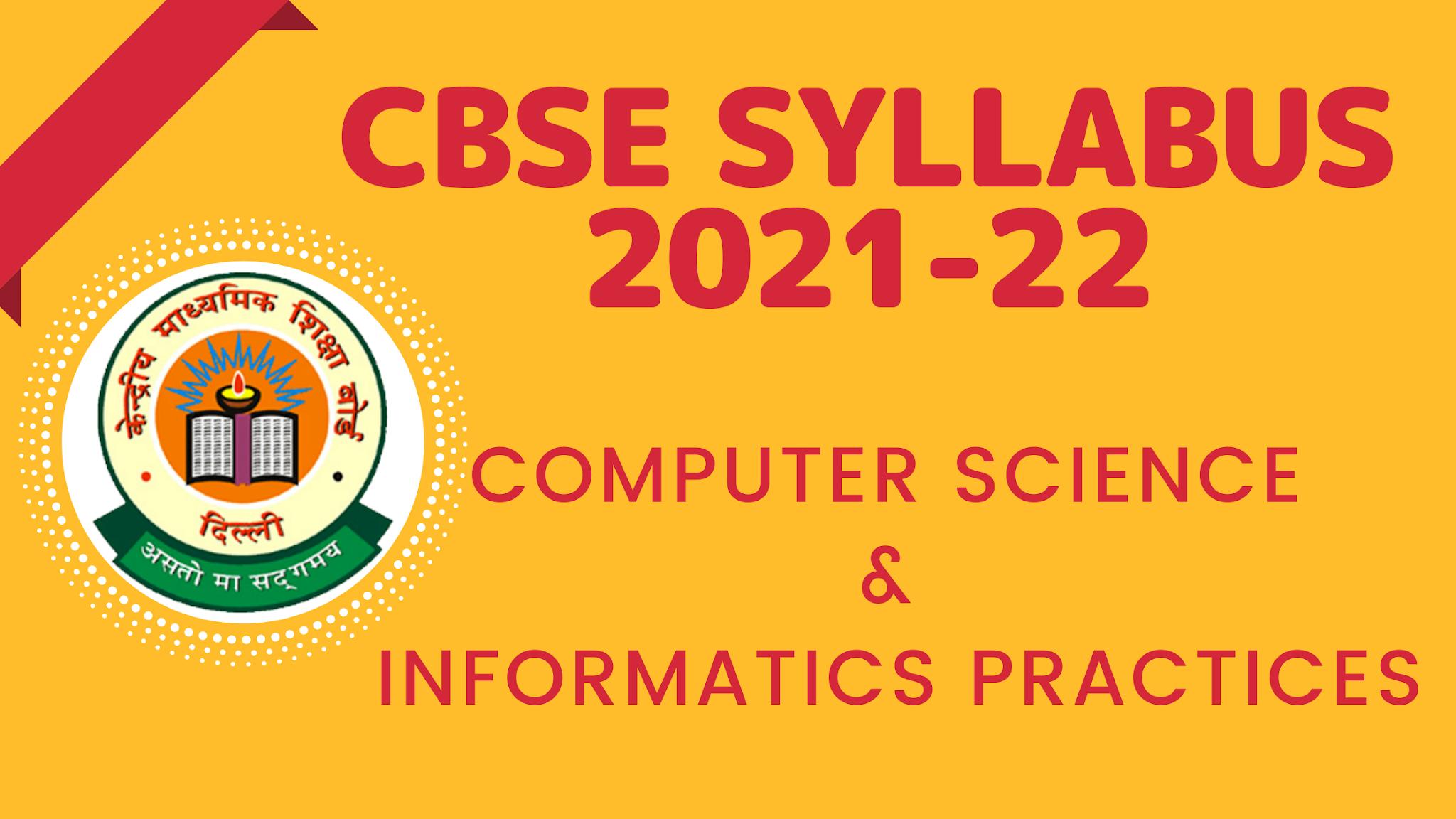 CBSE Class 12 Syllabus 2021-22