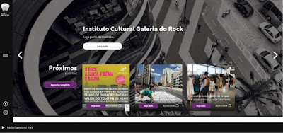 Print do site da Galeria do Rock - Matéria Galeria do Rock - BLOG LUGARES DE MEMÓRIA