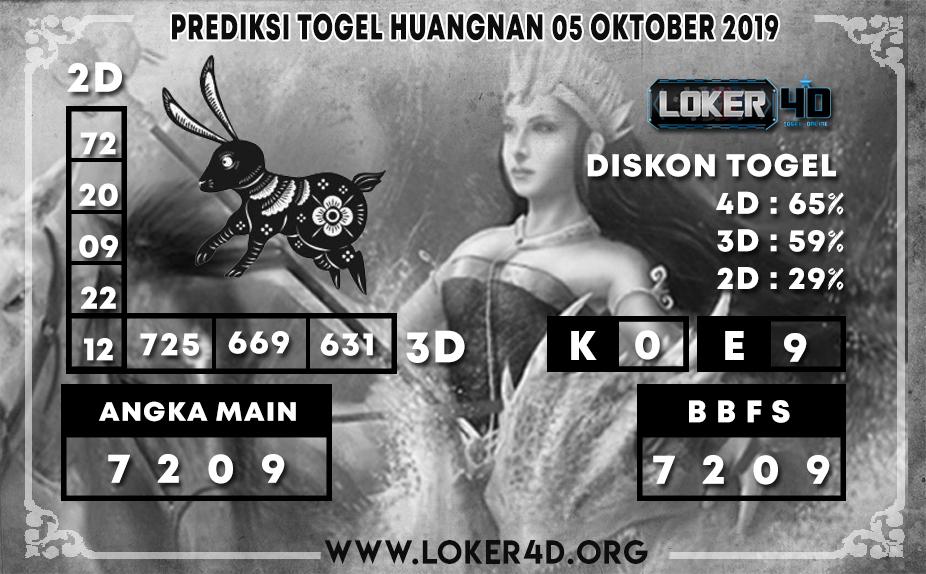PREDIKSI TOGEL HUANGNAN LOKER4D 05 OKTOBER 2019