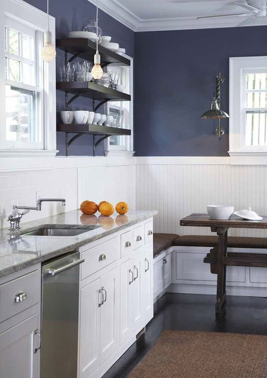 There Are Several Colors That Look Great As Accents In A Blue And White Kitchen Try The Citrus Shades Of Orange Red Yellow Lime Green Via Pinterest