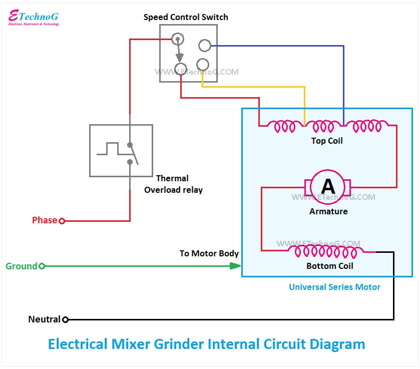 mixer grinder circuit diagram, circuit diagram of mixer grinder