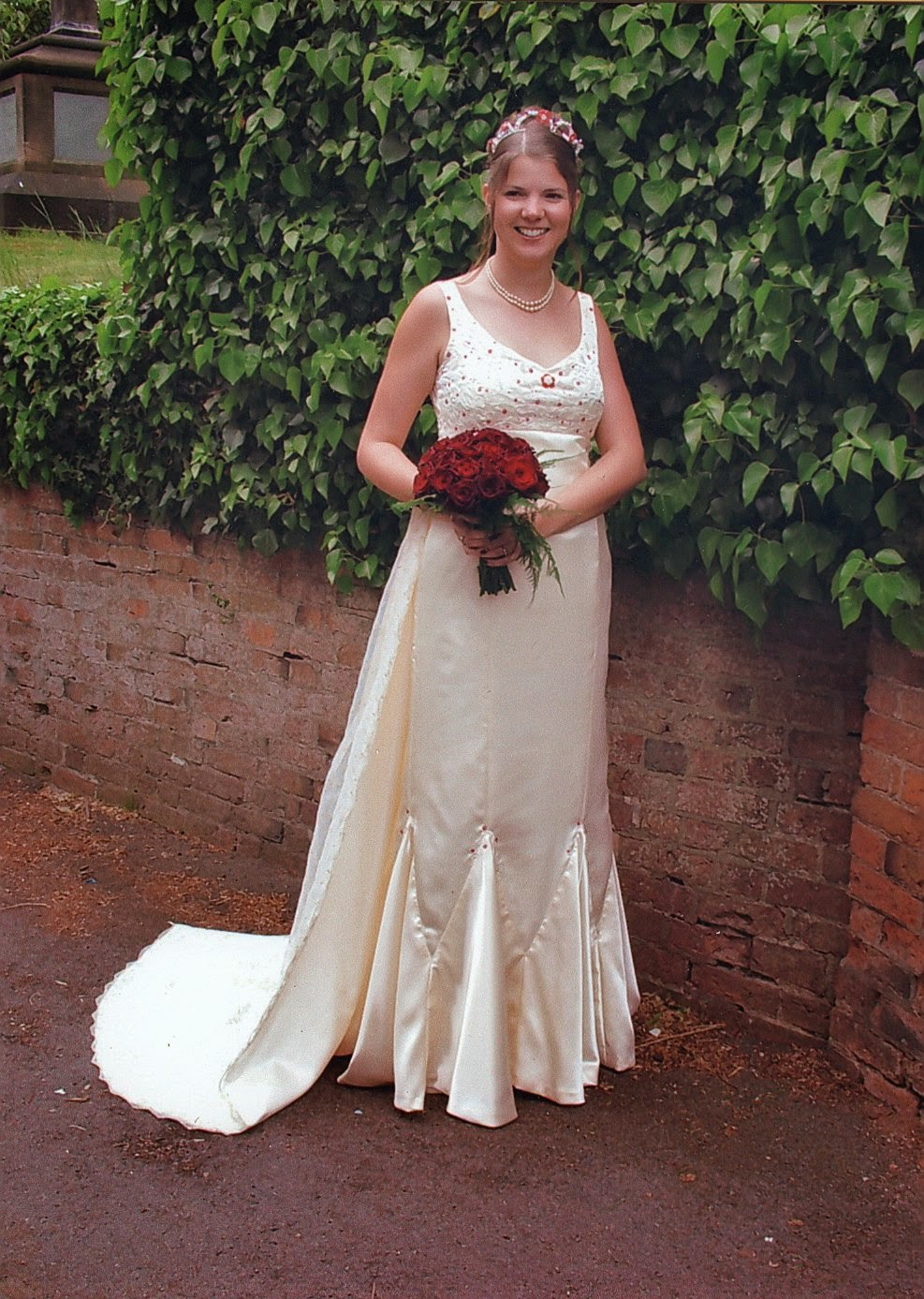 A 'do it myself' wedding dress