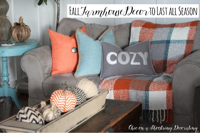 Fall Farmhouse Decor Chic on a Shoestring Decorating Blog
