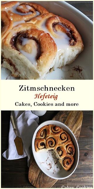 Rezept für Zimtschnecken aus Hefeteig #zimtschnecken #zimt #hefeteig #backen