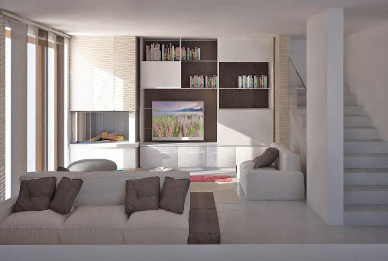 Come arredare un ampio soggiorno facendone il cuore della for Arredare parete soggiorno