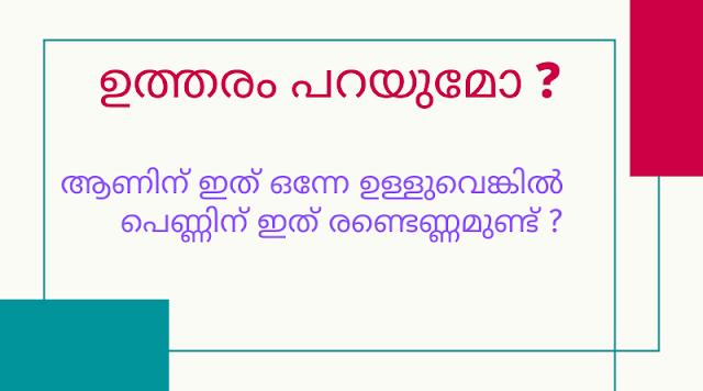 Kusruthi Chodyam 2019 with Answer