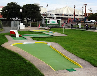 The Masters Putting Green Crazy Golf course in Southport