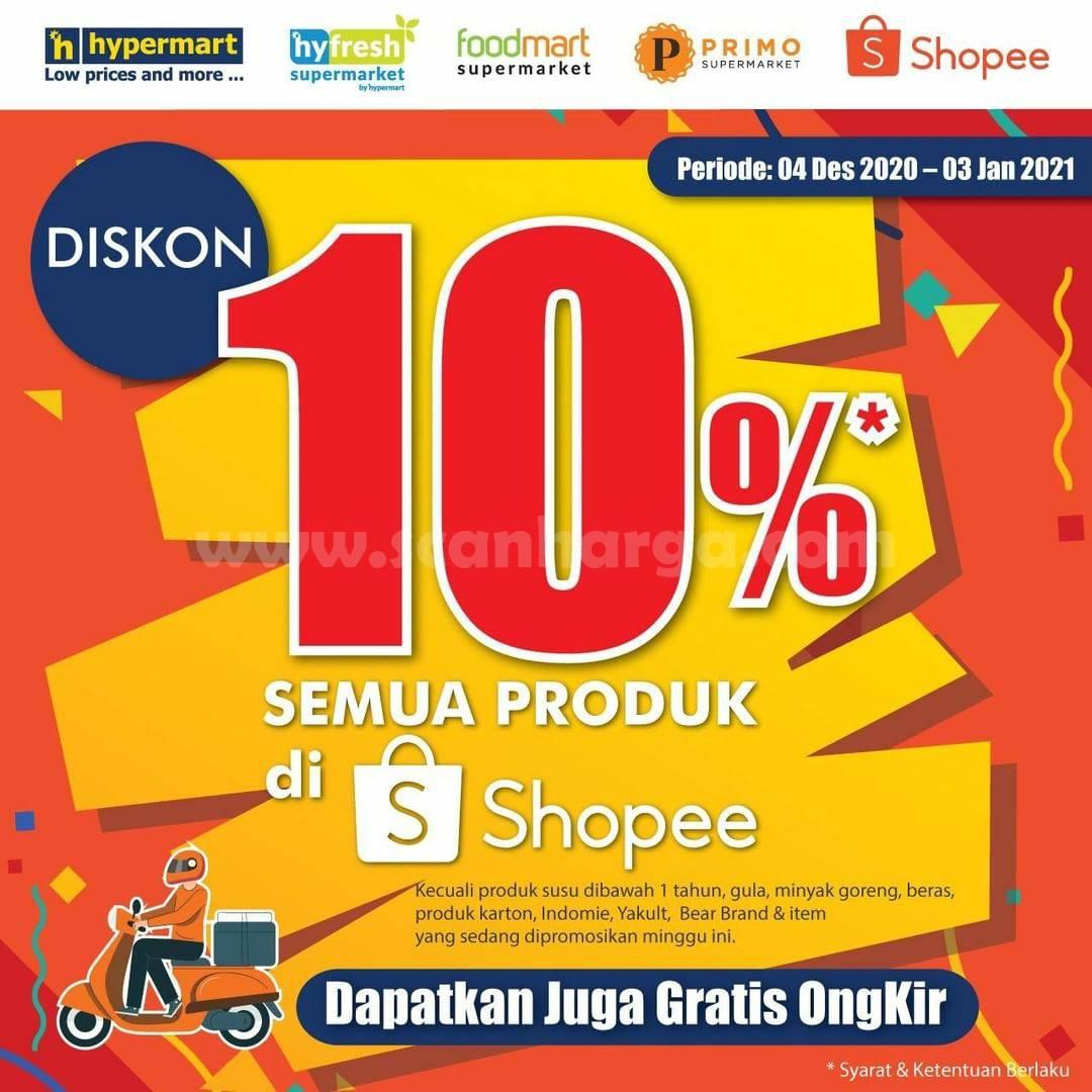 Hypermart Promo Diskon 10% Semua Produk di Shopee