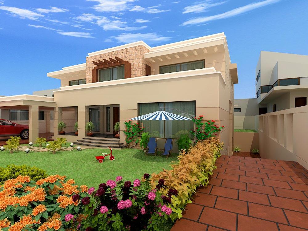 Exterior: Home Interior Design: Pakistan Modern Home Designs