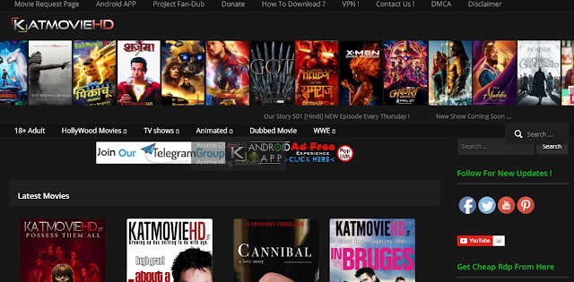 Top Hindi Hollywood and bollywood movies downloading sites in 2019