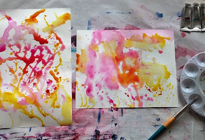 watercolor drips splashes and spills