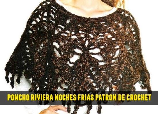 Poncho Riviera para noche frias patron