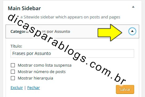 sidebar wordpress