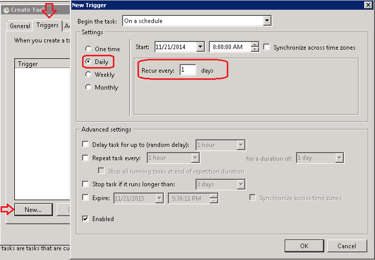 Export AD Users to CSV via Schedule Task using Powershell script