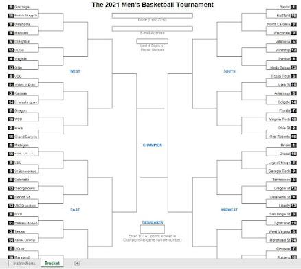 march madness 2021 bracket spreadsheet template