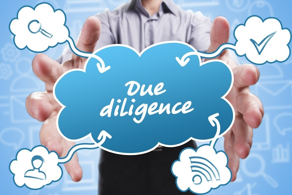 Due diligence is an investigation of a business or person