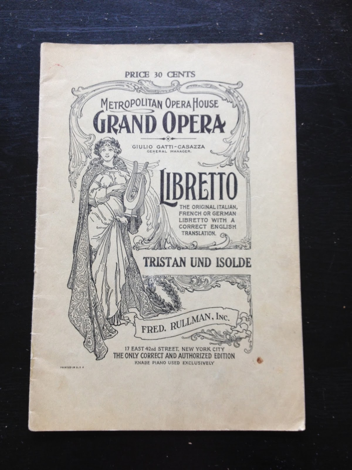 Opera Obsession Operatic Ephemera Tristan At The Met