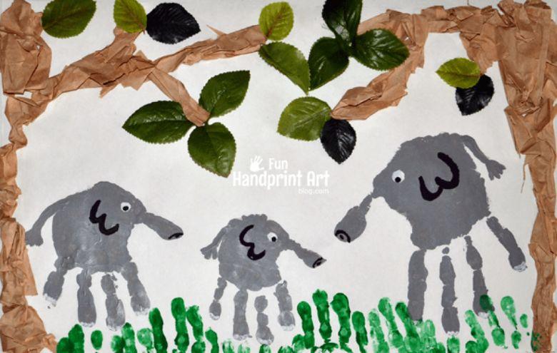 elephant handprint art