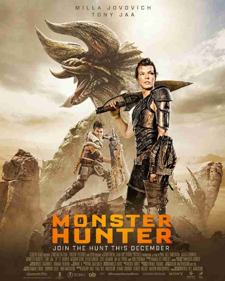 Director Paur W.S. Andersons Upcoming action thriller movie Monster Hunter's trailer  release starring Milla jovovich & Tony Jaa