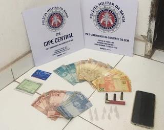 Cipe Central apreende drogas, dinheiro e munições em Cascavel, distrito de Ibicoara