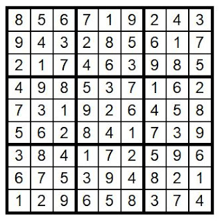 Answer Key Sudoku #37 Brain Training with Cats ©BionicBasil®