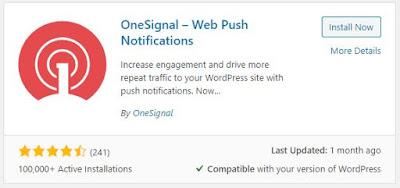 Free OneSignal – Web Push Notifications Plugin