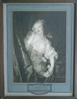 "62cc36829a30 Fig.5. ""Le baiser envoyé de J.B. Greuze"". Plancha a color. La  l Illustration Noel. Edición de 1913. París."