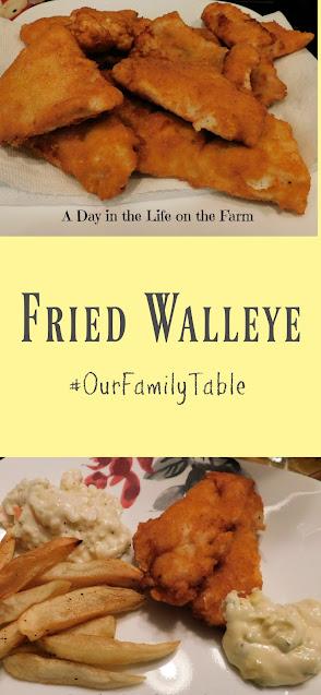 Fried Walleye pin