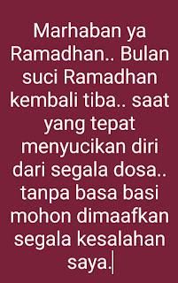 Kata kata menyambut bulan Ramadhan simple