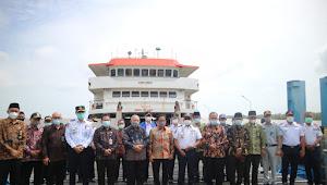 Pelabuhan Roro Kuala Tungkal Sah di Resmikan Oleh Bupati dan Direktur Jendral Perhubungan Darat