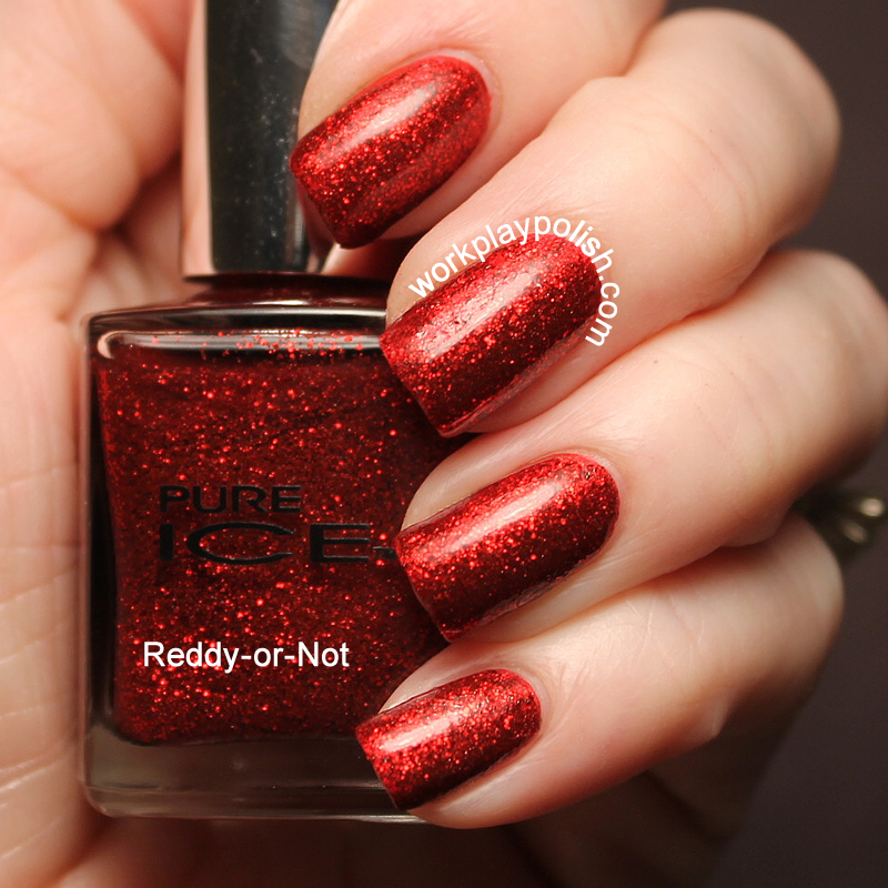 Pure Ice Reddy-or-Not Swatch (work / play / polish)