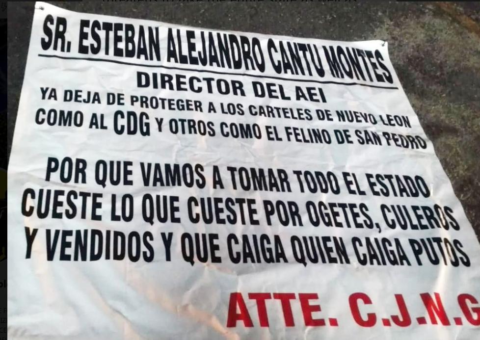 Borderland Beat: CJNG covers Monterrey, Nuevo León with
