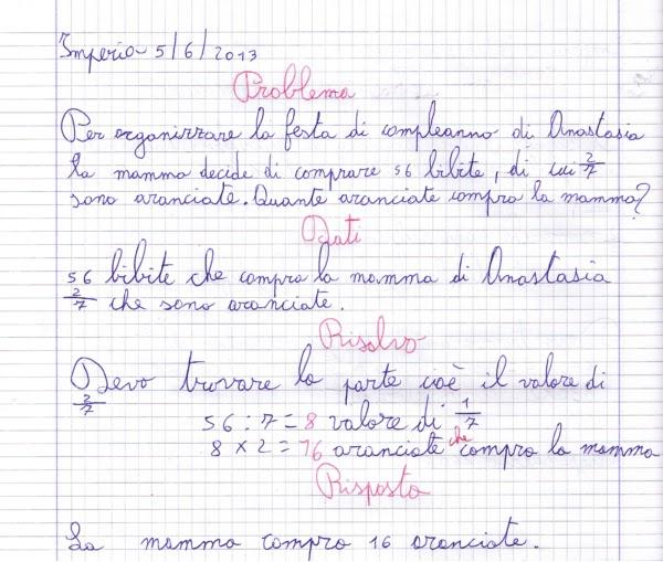Favorito didattica matematica scuola primaria: Problemi con le frazioni  NW86