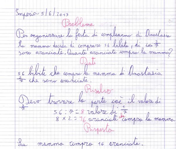Top didattica matematica scuola primaria: Problemi con le frazioni  ZV62