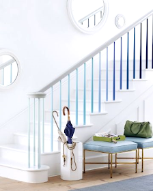 Painted Staircases with a Nautical Beach Vibe | Blue ...