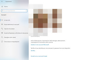Account Windows