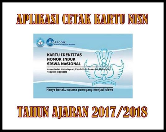 Aplikasi Cetak NISN Otomatis Tahun Ajaran 2017/2018