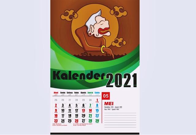 Mockup Kalender CDR 2021