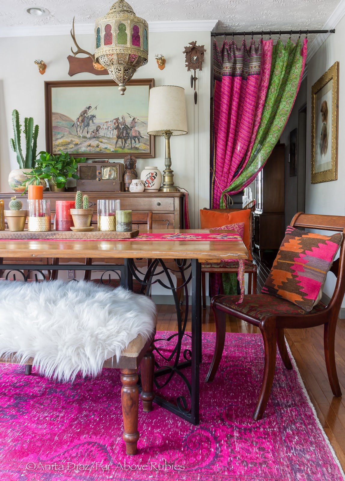 far above rubies: bohemian chic spring home tour